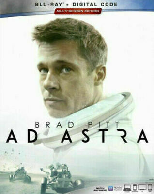 Ad Astra (Blu-ray + Digital; 2019) NEW w/ Slipcover Brad Pitt