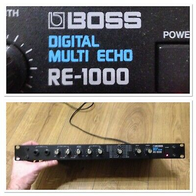 """Roland BOSS RE-1000 VINTAGE Multi Echo Delay RE-301 19"""" Space Heritage 1990 TEXT"""
