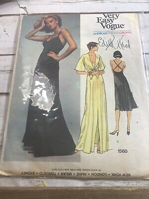 Vogue Designer Patterns Vintage Assortment  MOLYNEUX Edith Head Jerry Silverma