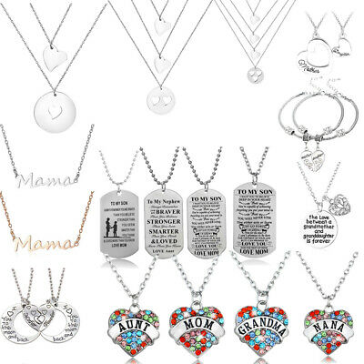 Sister Brother Mother Daughter Son Nana Grandma Mom Aunt Necklace Family Jewelry