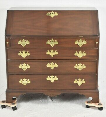 KITTINGER Colonial Williamsburg Mahogany Slant Front Desk CW-1