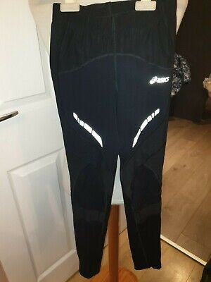 Brand New Ladies Designer Asics Full Length Running Compression Tights Uk 4/6 Xs