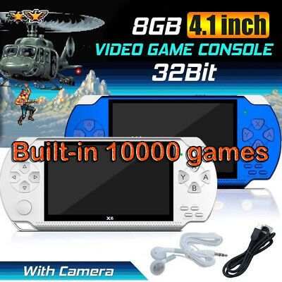 "X6 8G 32Bit 4.3"" PSP Portable Handheld 10000 Classic Games Console Player Video"