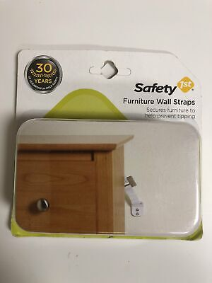 Safety 1st Furniture Wall Straps Secures Furniture Helps Prevent Tipping