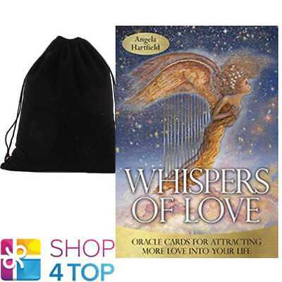 Whispers Of Love Oracle Cards Deck Esoteric Telling Blue Angel With Velvet Bag