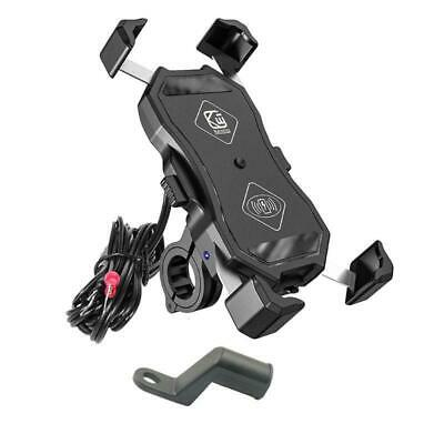 12V Motorcycle QC3.0 USB Qi Wireless Charger Mount Stand Holder for Cellphone