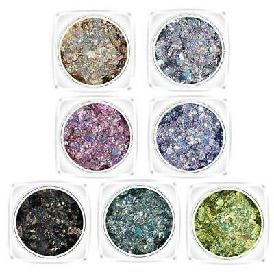 Hybrid Sequin Glitter Colorful Glitter Pots Nail Face Body T9Y7 Shadow Make W0R2