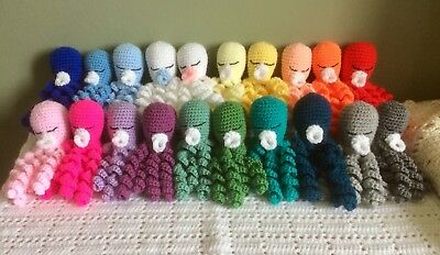 Crochet Octopus For Premature Babies 100/%cotton Baby Shower Comforter Gift