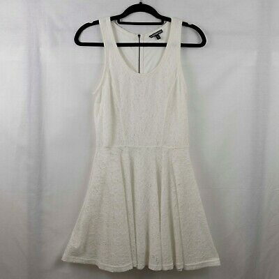 EXPRESS Womens Girls Lace Skater Dress Tank Sleeveless Cream Size Small EUC