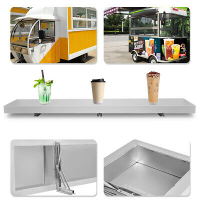 6 FT Shelf for Concession Window Food Truck Accessories Business Aluminum Alloy