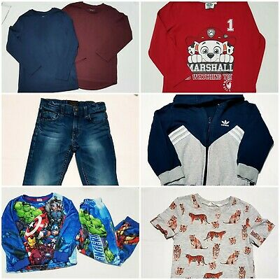Boys Clothes Bundle Age 6 Years, T-Shirts/Pyjamas/Jeans, H&M/Adidas/Next Etc.