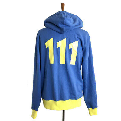 FALLOUT 76 Vault 76 TeQ Premium Hoodie Male Small Blue//Yellow HD283887FAL-S