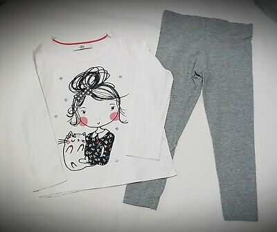 Girls Clothes Outfit Age 3-4 Yrs, M&S Marks & Spencer Long Sleeve Top & Leggings