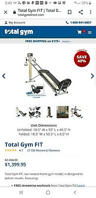 Green Total Gym FIT with XL Squat Stand /& Mobile Device Holder