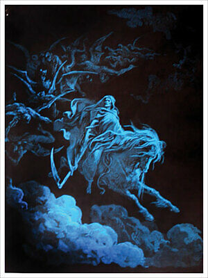 "Death Rides a Pale Horse Non-Flocked Laminated Blacklight Poster - 36.5"" x 24.5"""