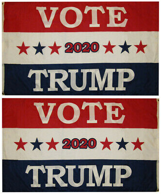 Vote Trump 2020 Red White Blue 100D Woven Poly Nylon Double Sided 3x5 3/'x5/' Flag