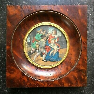 Antique Miniature Painting, 17th 18th century, Massacre of the Innocents