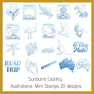 Couture Creations Sunburnt Country Mini Stamp - Choose from 20 Stamps