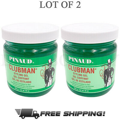 Pinaud Clubman Styling Gel for Men 16 oz Jars - Lot of 2