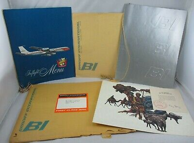 Grouping Braniff International Airways El Dorado Super Jet Menu & More