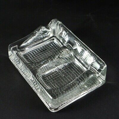 Vintage Glass Double Ink Well Pot with Pen Holder Made in ENGLAND Stamped