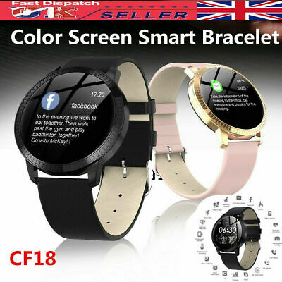 Smart Watch Fitness Tracker Men Women Blood Pressure Heart Rate Tempered Mirror