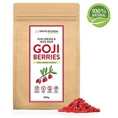 500G Goji Berries Raw Natural Sun-Dried Large Premium Superfood Wolfberry Fruit