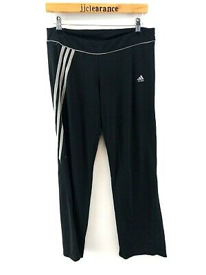 ADIDAS Womens Tracksuit Bottoms Joggers 16 Black Polyester & Spandex Leggings