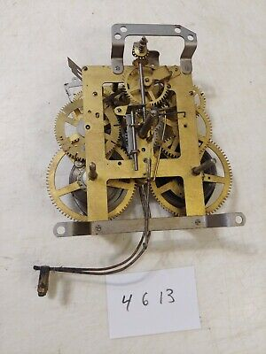Antique Ingraham Tambour Mantle Clock  Movement Dual Chime