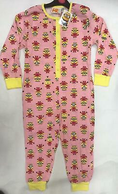 Official Licensed Girls Minions Pink All In One Bodysuit Pyjamas Age 4-8 Years