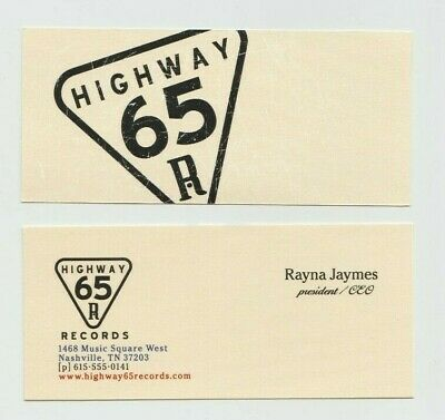 Nashville Rayna Jaymes Connie Britton Screen Used Highway 65 Business Card