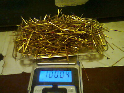 100g Mixed ICT contact pins from automotive industry. Gold recovery.