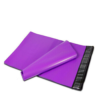 "50 9"" x 12"" Purple Poly Mailers Shipping Envelopes Self Sealing Mailers Bags"