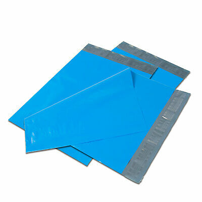"100 6"" x 9"" Blue Poly Mailers Shipping Envelopes Self Sealing Mailers Bags"