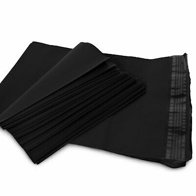 "5 24"" x 24"" Black Poly Mailers Shipping Envelopes Self Sealing Mailers Bags"