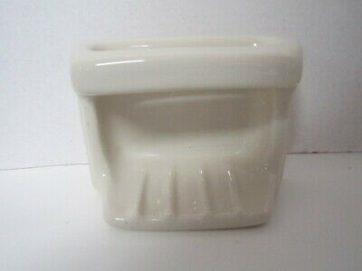 Recessed Porcelain Soap Dish/Holder Wall Mount Almond Salvaged