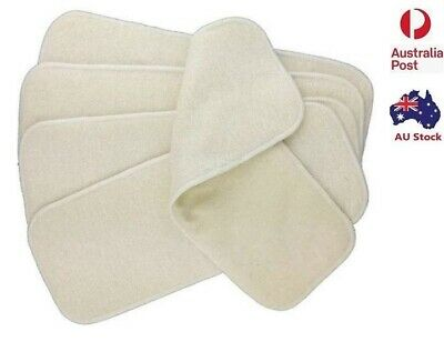 5 X  Hemp & Cotton 4 Layers Nappy Inserts Liners Insert for Modern Cloth Nappy