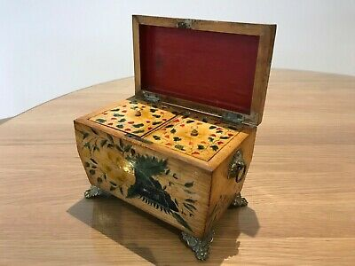 Pretty painted early 19th century caddy