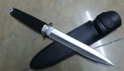 13''New ABS Handle Double Edge Military Boot Dagger Survival Hunting Knife VTH48