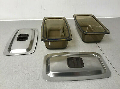 Hostess EkcoTrolley Dishes in smoked glass & Lids  Hostess Phillips X 2 pair of