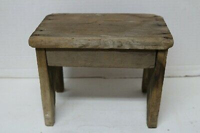 "Vintage/Antique Primitive Stool With Boot Jack Legs - 11"" x 7-1/2"" x 8-1/4"" High"