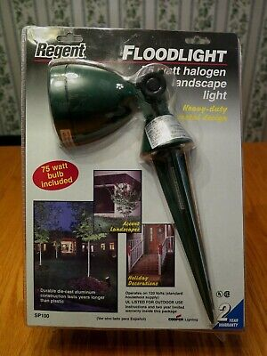 Regent Floodlight 75 watt Halogen Landscape Light Heavy Duty Metal **SEALED**