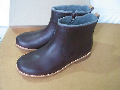 New Clarks Older Girls Comet Frost Burgundy Leather Ankle Boots 2.5 G,3F, 3.5 F