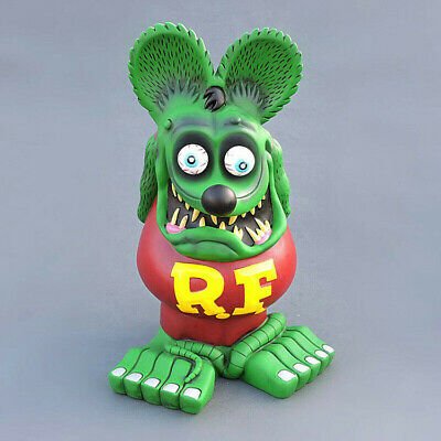"13"" Green Brown Rat Fink Figure Action Roth Ed Big Daddy Statue Model Toy"
