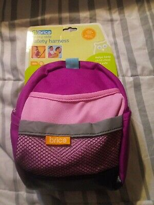 Brica By-My-Side Safety Harness Backpack Pink/Purple