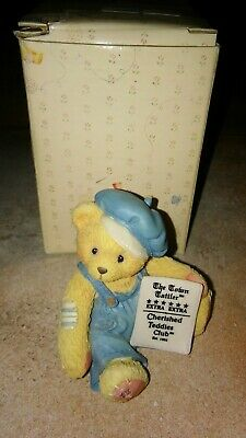 Cherished Teddies Ernie Banks Lets Play Two 2000 Figurine NEW Chicago Cubs MLB
