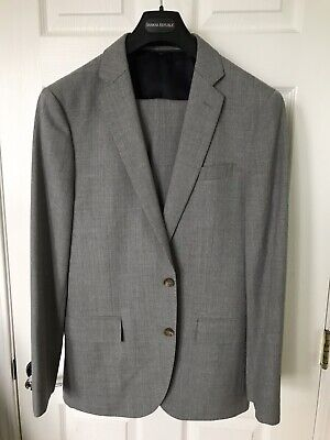 J.Crew Ludlow Traveler Suit Italian Wool Charcoal Gray 38S 31 x 32 New NWT