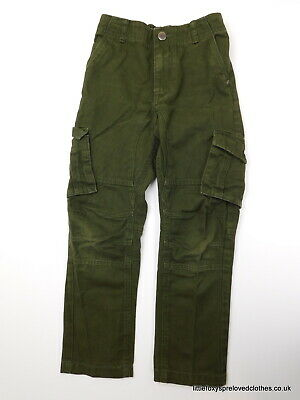 7-8 year George boys green trousers jeans