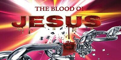 The Blood of Jesus Breaks every Chain Praise & Worship Dance Flag 100% SIlk