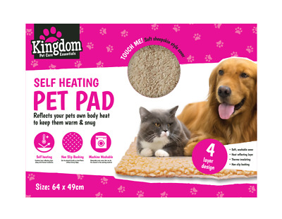 Self Heating Pet Pad. Dog Cat Bed Mat Thermal Radiator Heated Washable Kitten